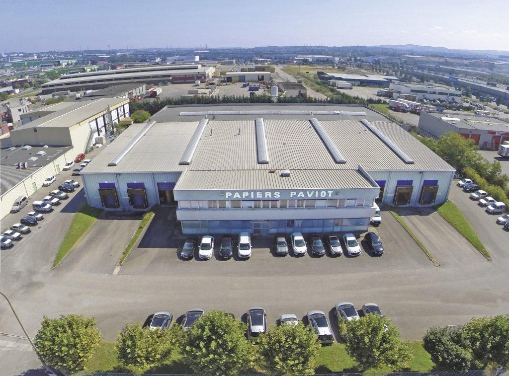 Vue aerienne usine Papier Paviots